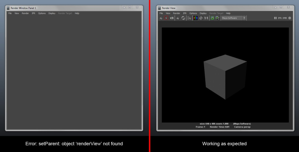 Fix for Maya - RenderView Not Found