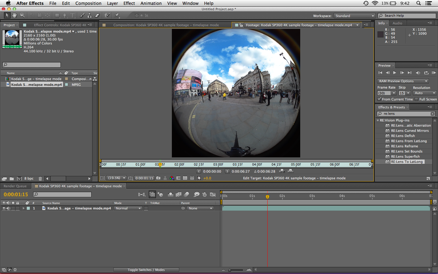Fisheye to Spherical Conversion using After Effects – The Fulldome Blog
